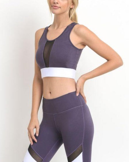 ISABEL COLORBLOCK MESH SPORTS BRA