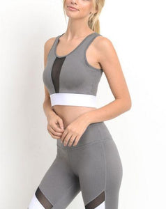 ISABEL COLOR BLOCK MESH SPORTS BRA