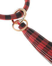 Load image into Gallery viewer, BUFFALO PLAID KEY RING BRACELET WITH TASSEL