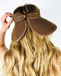 EVIAN OPEN-TOP PACKABLE STRAW HAT