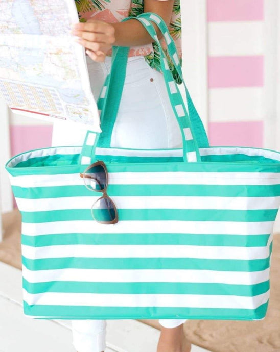 LARGE STRIPE BEACH TOTE