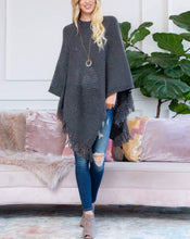 Load image into Gallery viewer, KELSI SOFT KNIT FRINGE PONCHO