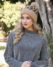 Load image into Gallery viewer, KENDRA LEOPARD KNIT BEANIE
