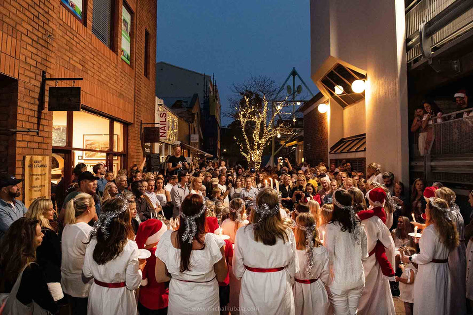 Swedish Lucia Christmas carols at Fika Swedish Kitchen Sydney Australia