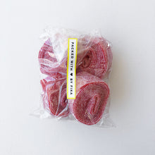 Load image into Gallery viewer, Sour Strawberry Rolls / Sura Jordgubbsrullar - 150g bag
