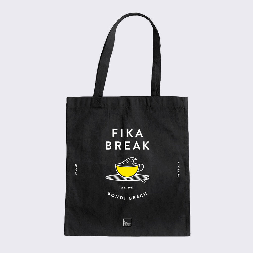 'Fika Break' Tote Bag – Bondi Beach