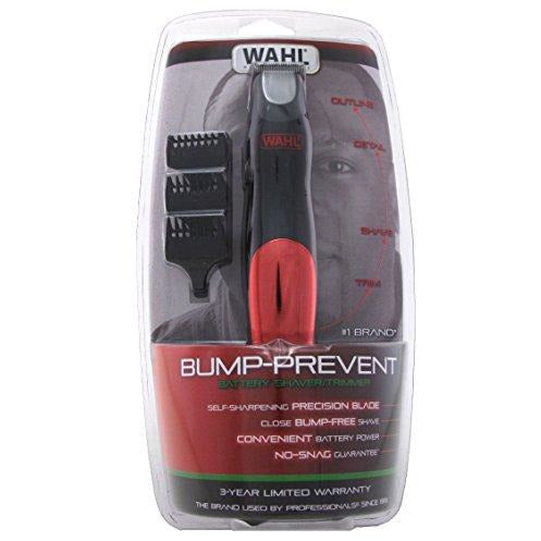 Wahl Trimmer Bump-Prevent Battery Shaver/Trimmer, 1 Ea, 1count