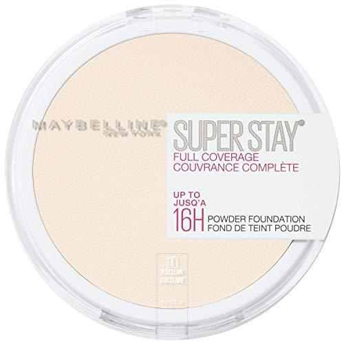 Maybelline New York Super Stay Full Coverage Powder Foundation Makeup, 0.21 Ounce - 110 PORCELAIN