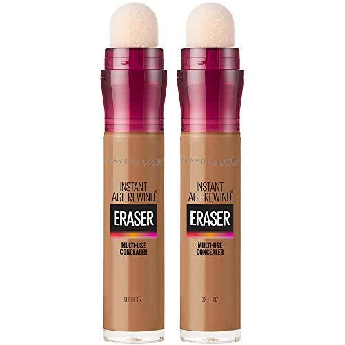 Maybelline Instant Age Rewind Eraser Dark Circles Treatment Multi-Use Concealer, Warm Olive, 0.2 Fl Oz (Pack of 2) (Packaging May Vary)