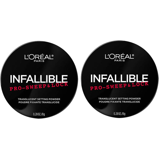 L'Oreal Paris Makeup Infallible Pro Sweep & Lock Loose Setting Powder, Translucent, 2 Count