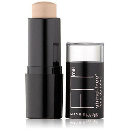 Maybelline New York Fit Me! Shine Free Stick Foundation, Porcelain [110] 0.32 oz (Pack of 2)