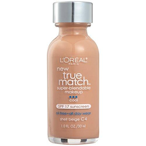 L'Oreal Paris Makeup True Match Super-Blendable Liquid Foundation, Shell Beige C4, 1 Fl Oz,1 Count