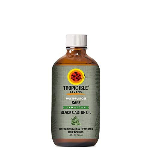 Tropic Isle Living Jamaican Black Castor Oil with Sage Plastic PET Bottle (4 oz)