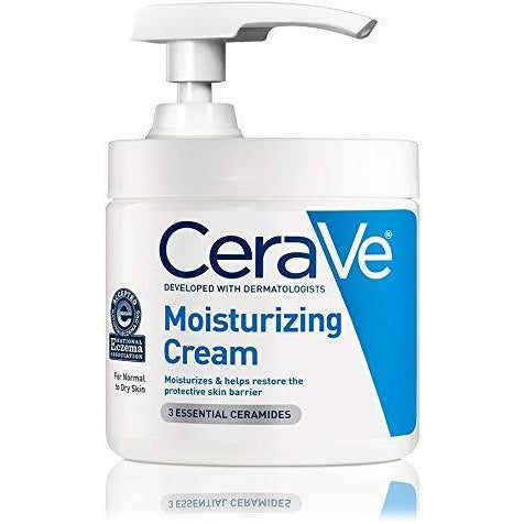 CeraVe Moisturizing Cream | 16 Ounce with Pump | Daily Face and Body Moisturizer for Dry Skin - 1 Pack