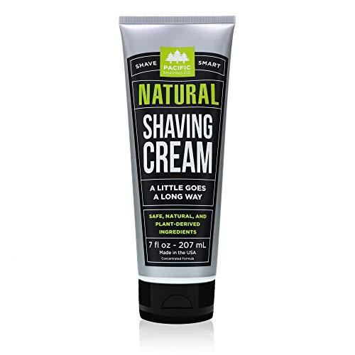 Pacific Shaving Company Natural Shave Cream - with Safe, Natural, and Plant-Derived Ingredients for a Smooth Shave, Healthy, Hydrated, Softer Skin, Less Irritation, Cruelty-Free, 7 oz - Pack of 1