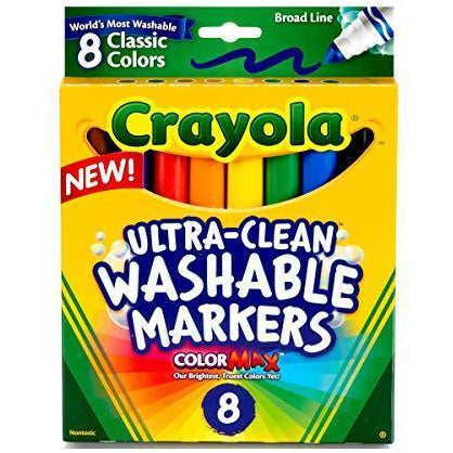 Washable Broad Point Markers (8/Pack) [Set of 2]