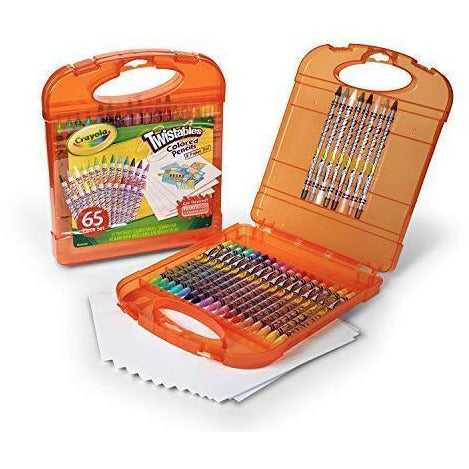 Crayola Twistables Colored Pencils Kit, 25 Twistables Colored Pencils and 40 sheets of paper