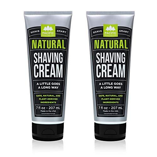 Pacific Shaving Company Natural Shave Cream, Cruelty Free, 7 oz (Pack of 2) - Pack of 2