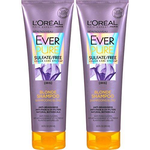 L'Oreal Paris Hair Care EverPure Blonde Sulfate Free Shampoo for Color-Treated Hair, Neutralizes Brass + Balances, For Blonde Hair, 2 Count (8.5 Fl. Oz each) (Packaging May Vary)