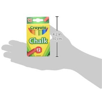 Crayola Multi Color Childerns Chalk, 12 per Pack 36 Packs per case