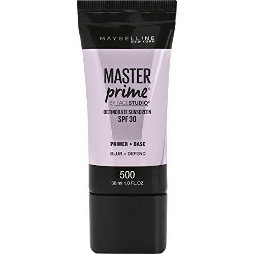 Maybelline New York Facestudio Master Prime Primer Makeup, Blur+ Defend, 1 Fl Oz (1 Count)