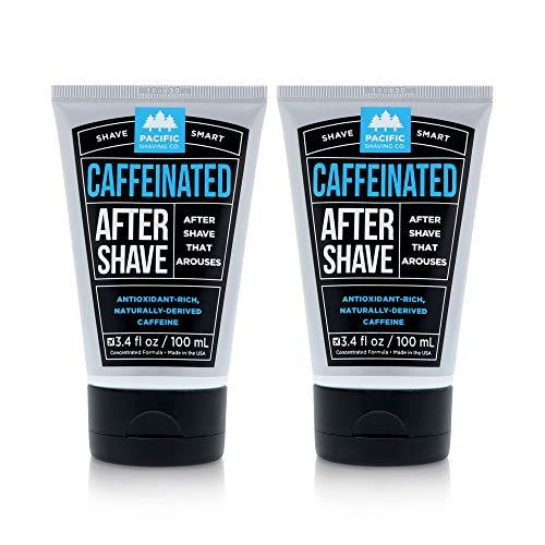 Pacific Shaving Company Caffeinated Aftershave - Helps Reduce Appearance of Redness, With Safe, Natural, and Plant-Derived Ingredients, Soothes Skin, Paraben Free, Made in USA, 3 oz (2-Pack) - 2 Pack