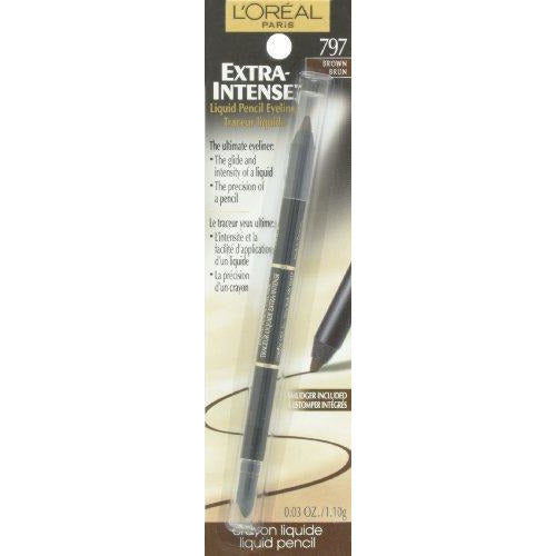 L'Oreal Paris Extra-Intense Liquid Pencil Eyeliner, Brown, 0.03 Ounces
