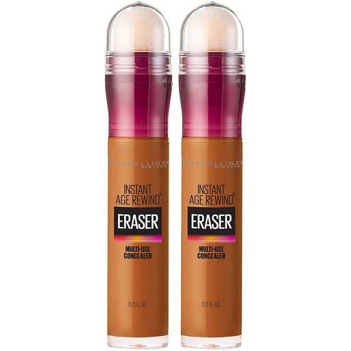 Maybelline Instant Age Rewind Eraser Dark Circles Treatment Concealer, Hazelnut, 0.2 Fl Oz (2 Count)