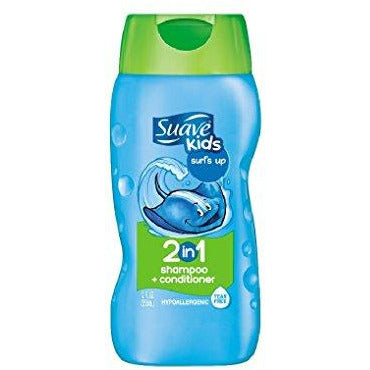 Suave Shampoo and Conditioner for gentle cleaning and detangling Surf's Up hypoallergenic 12 oz 6 ct