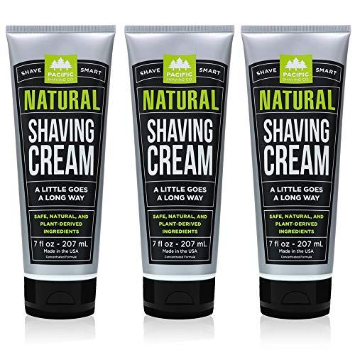 Pacific Shaving Company Natural Shave Cream, Cruelty Free, 7 oz (Pack of 3)