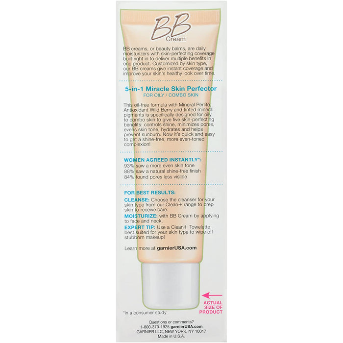 Garnier Skin Skinactive Bb Cream Oil-Free Face Moisturizer, Light/Medium, 2 Count