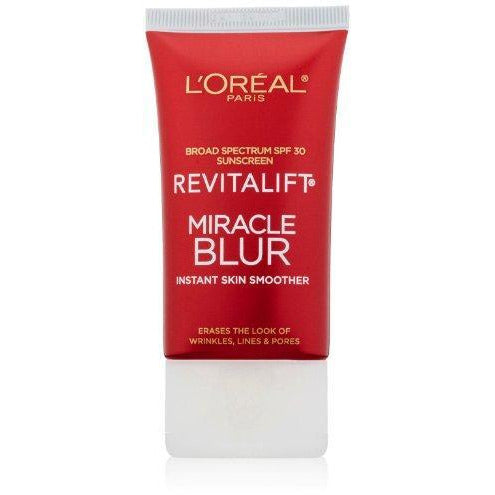 L'Oreal Paris Skincare Moisturizer for Face, Revitalift Miracle Blur Instant Skin Smoother Primer, Facial Cream with SPF 30 Sunscreen, 1.18 fl. oz.