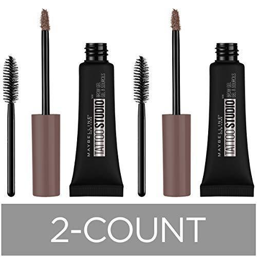 Maybelline New York Tattoostudio Waterproof Eyebrow Gel Makeup, Medium Brown, 0.23 Fl Oz (Pack of 2)