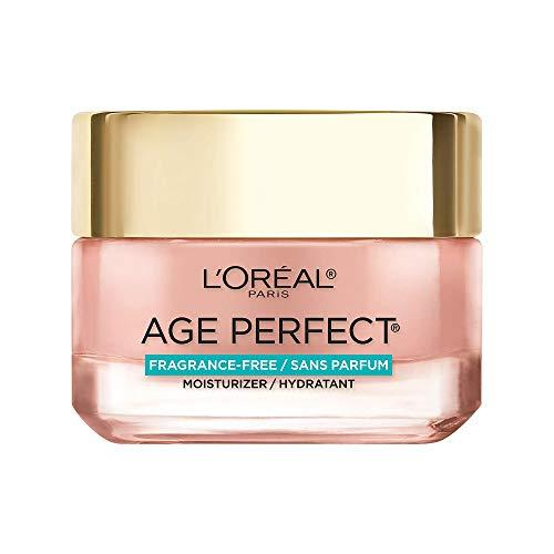 L'Oreal Paris Skin Care, Age Perfect Rosy Tone Fragrance Free Moisturizer for Face with LHA and Imperial Peony, Anti-Aging Day Cream for Face, Non-greasy, 1.7 Ounce