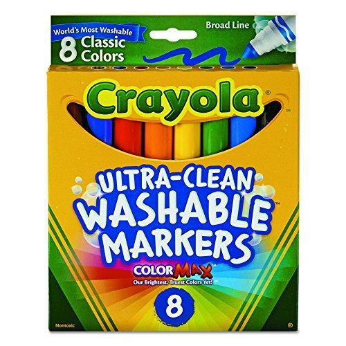 Crayola 8 Ct Broad Line Washable Markers