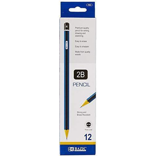 BAZIC #2B Premium Wood Pencil (12/Pack) (Case of 24)