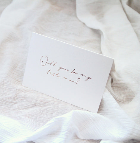 Linen Card - Will you be my Best Man?