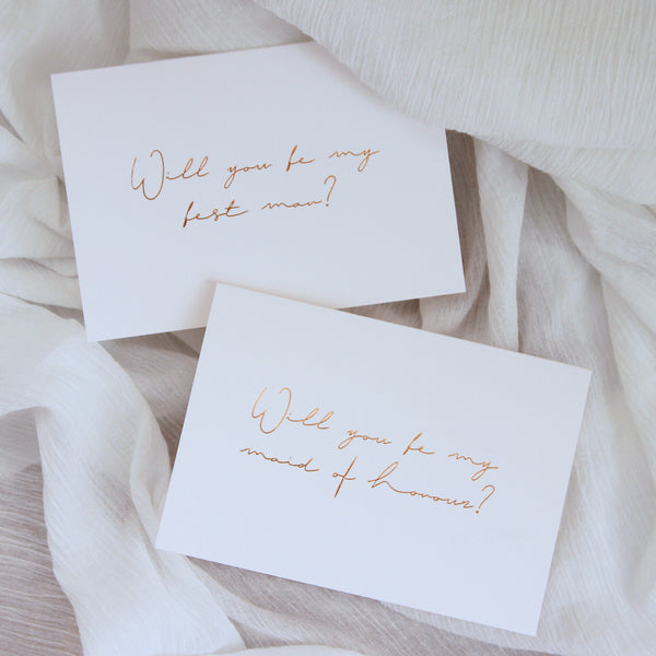 Linen Card - Will you be my Maid of Honour?