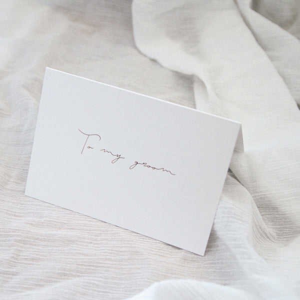 Linen Card - To my Groom
