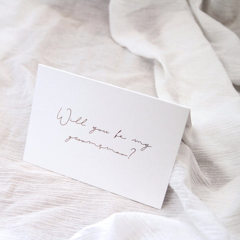 Linen Card - Will you be my Groomsman?