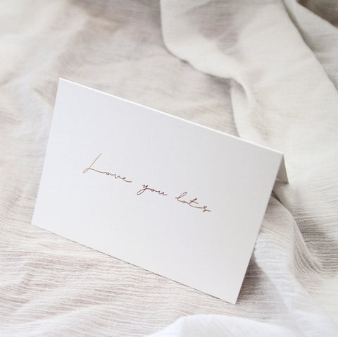 Linen Card - Love you lots