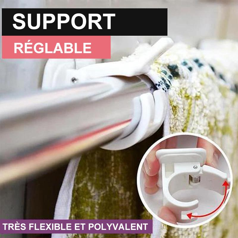 Support de Tige Réglables Sans Clous (2PCS)