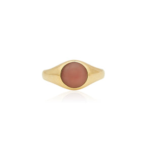 Small Guava Stone Signet Ring