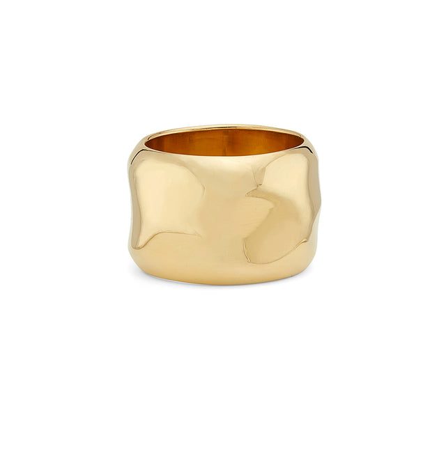 Large Wavy Cigar Ring