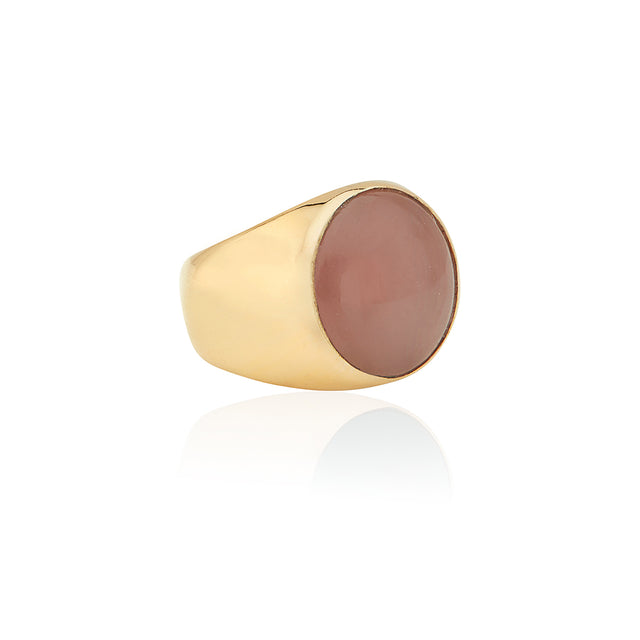 Large Guava Stone Signet Ring
