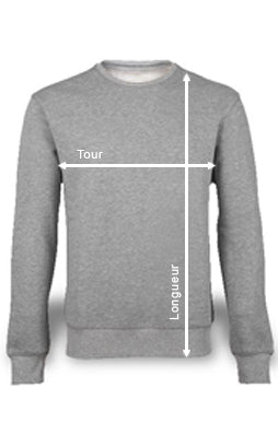 pull unisex fract all guide des tailles