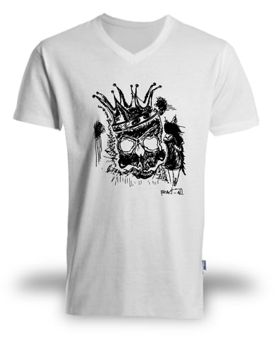 "T-shirt Organic ""The Queen's death""  ♂ - Fract-All store"