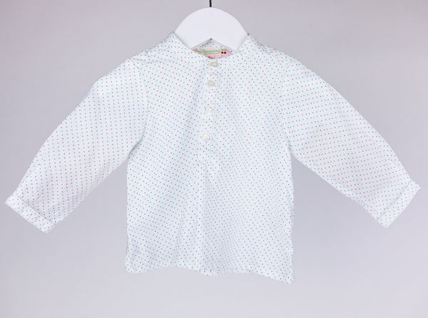 Bonpoint Freckled Button-up Blouse (6M)