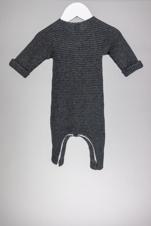 Knit Button-Up Romper (6M)