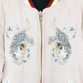 Chloe Satin Embroidered Bomber Jacket (10Y)